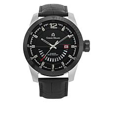 Giorgio Milano Black Dial Black Croco Leather Watch