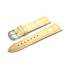 Giorgio Milano Ivory Croco-Embossed Leather Watch Strap