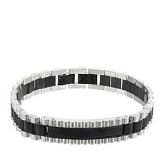 Giorgio Milano Men's Stainless Steel Matte Black Plating Bracelet