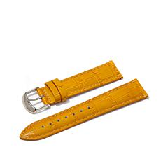 Giorgio Milano Orange Croco-Embossed Watch Straps