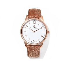 Giorgio Milano White Dial Rosetone Leather Strap Watch