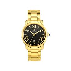 Giorgio Milano Women's Goldtone Black Dial Watch