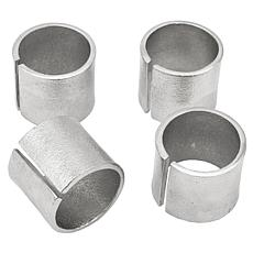 Godinger Cuff Platinum Napkin Ring - Set Of 4