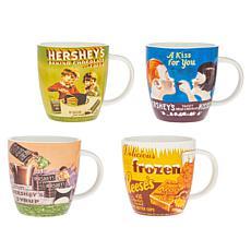 Godinger Hershey's Vintage Mug 4-Pack