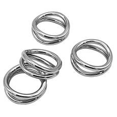 Godinger Silver Loop Napkin Ring - Set Of 4
