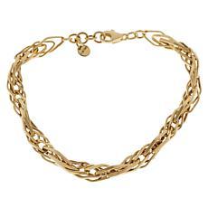 Gold Expressions 10K Gold Marquise-Link Line Bracelet