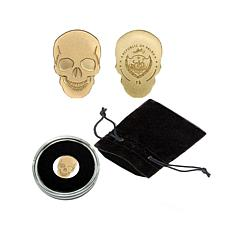 Golden Skull .9999 Gold $1 Palau Coin