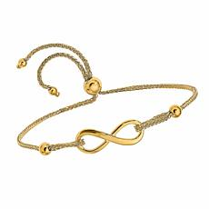 Golden Treasures 14K Gold Polished Infinity Adjustable Bracelet