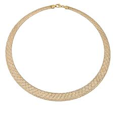 Golden Treasures 14K Italian Gold 2-Tone Woven Necklace