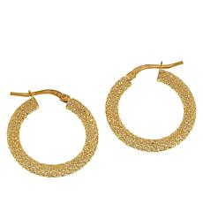 Golden Treasures 14K Italian Gold Diamond-Cut Hoop Earrings