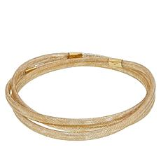 Golden Treasures 14K Italian Gold Flexible Bangle Bracelet