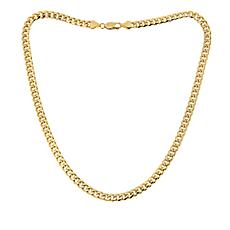 Golden Treasures 14K Italian Gold Miami Cuban Link Necklace