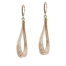 Golden Treasures 14K Italian Gold Woven Teardrop Earrings