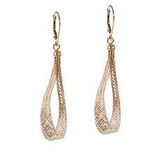 Golden Treasures 14K Italian Gold Woven Teardrop Earrings