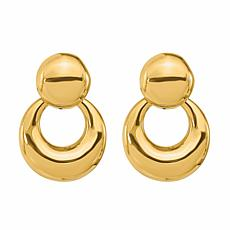 Golden Treasures 14K Polished Doorknocker Earrings