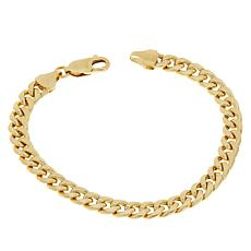Golden Treasures 14K Yellow Gold Miami Cuban Link Bracelet - 7""