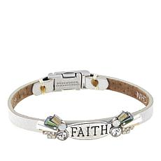 "Good Work(s) ""Because of Your Faith"" 7-1/4"" Leather Bracelet"