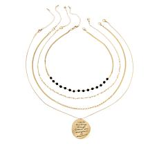 """Good Work(s) """"Blessed"""" Double-Sided Necklace 4-piece Set"""