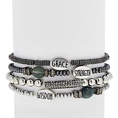"Good Work(s) ""His Amazing Grace"" Set of 4 Stretch Bracelets"