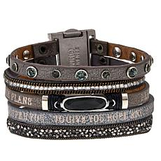 "Good Work(s) ""His Promise Never Fails"" Leather Strap Bracelet"