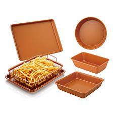 Gourmet Edge 6-piece Copper Ceramic Nonstick Bakeware Set