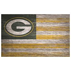 Green Bay Packers Distressed Flag 11x19