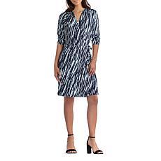 H Halston Jet Set Jersey Knit Wrap Dress