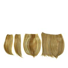 Hair2Wear Medium Blonde Straight 4-piece Hair Extension
