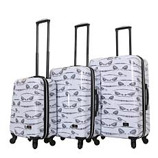Halina Valerie Valerie Aubergine 3-piece Luggage Set