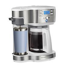 Hamilton Beach 2-Way Programmable Coffee Maker, Single-Serve or 12-Cup
