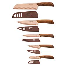 Hampton Forge Tomodachi Raintree Copper Titanium 10-Piece Knife Set