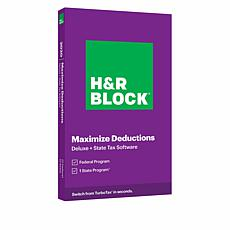 H&R Block Deluxe and State Tax Software