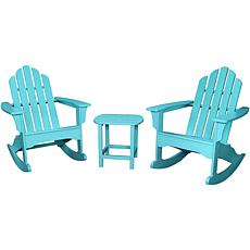 Hanover 3pc Adirondack All-Weather Rocking Patio Set