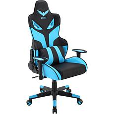 Hanover Black/Blue Commando Gaming Chair w/Gas Lift & Lumbar Support