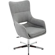 Hanover Carlton Wingback Stationary Office Chair (Gray w/Chrome base)