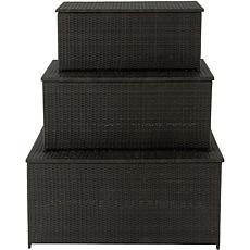 Hanover Set of 3 Outdoor Storage Deck Boxes