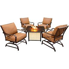 Hanover Summer Nights 5-Piece Conversation Set with Cas