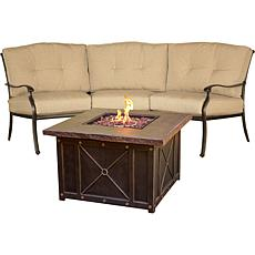 Hanover Traditions 2pc Chat Set w/Durastone Fire Pit