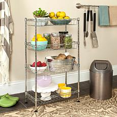 Happimess Gaston 4-Tier Wire Mini Rack - Chrome