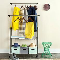 Happimess Giorgio Wire Double Rod Clothes Rack - Chrome