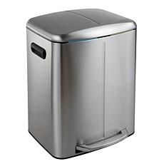 happimess Marco Rectangular 10.5-Gallon Trash Can with Soft-Close Lid