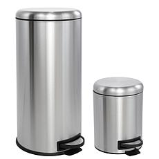 happimess Oscar 8-Gallon Stainless Steel Trash Can with Mini Can