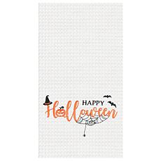Happy Halloween Towel White S-2