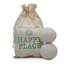 Happy Place Set of 6 Wool Dryer Balls with Storage Bag