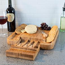 Hastings Home Bamboo Cheese Serving Tray