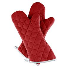 Hastings Home Set of 2 Oversized Quilted Mittens - Solid