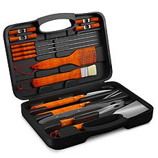 Hastings Home Wood BBQ Grill Tool Set