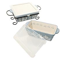 Hauswarming Ceramic Baker and Loaf Pan Set