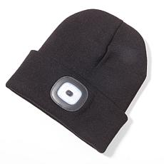 Headlightz Rechargeable LED Solid Knit Beanie with Light
