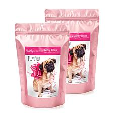 Healthy Breeds Valentine's Day Jerky Turkey Dog Treats 2-Pack 10 oz.